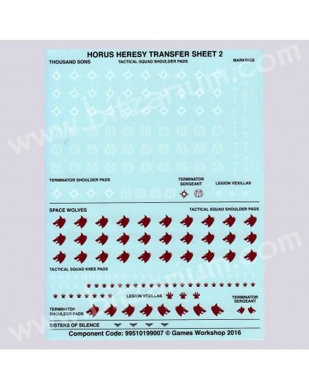 Space Wolves Horus Heresy - Transfer Sheets
