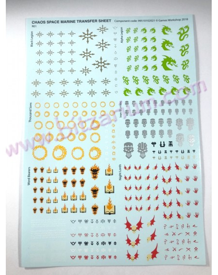 Chaos Space Marines 3 - Transfer Sheets