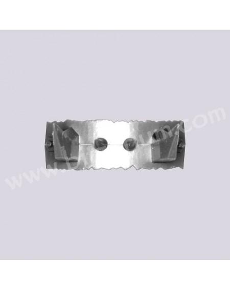 Plaque dentelée