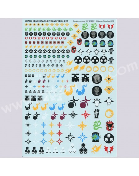 Chaos Space Marines 2 - Transfer Sheets